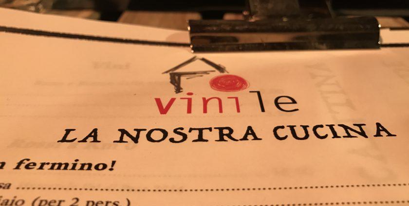 menu of vinile