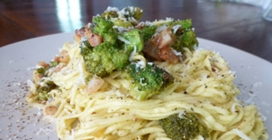 Recipe: Tagliolini Pasta with Fresh Broccoli
